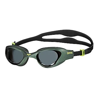 Arena The One Adult Swimming Googles-Smoke Lens-Deep Green/Black