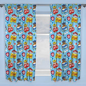 Paw Patrol Peek Curtains 168 cm x 183 cm