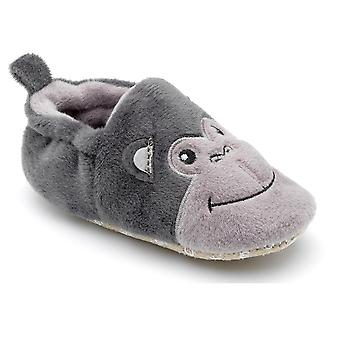 Chipmnuks Boys Fizz Baby Slippers Grey