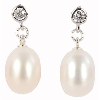 Pearl Aurora Drop Freshwater Pearl Earrings - White