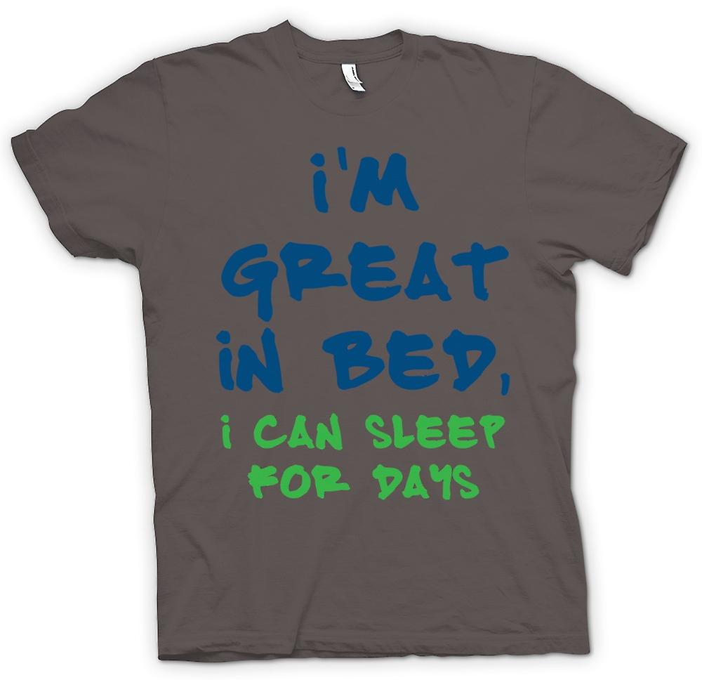 Womens T-shirt - Im Great In Bed, I Can Sleep For Days - Funny