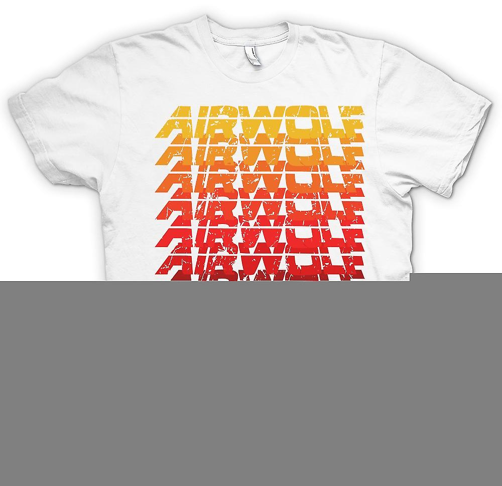 Mens t-skjorte-Airwolf Cool pop Art Design