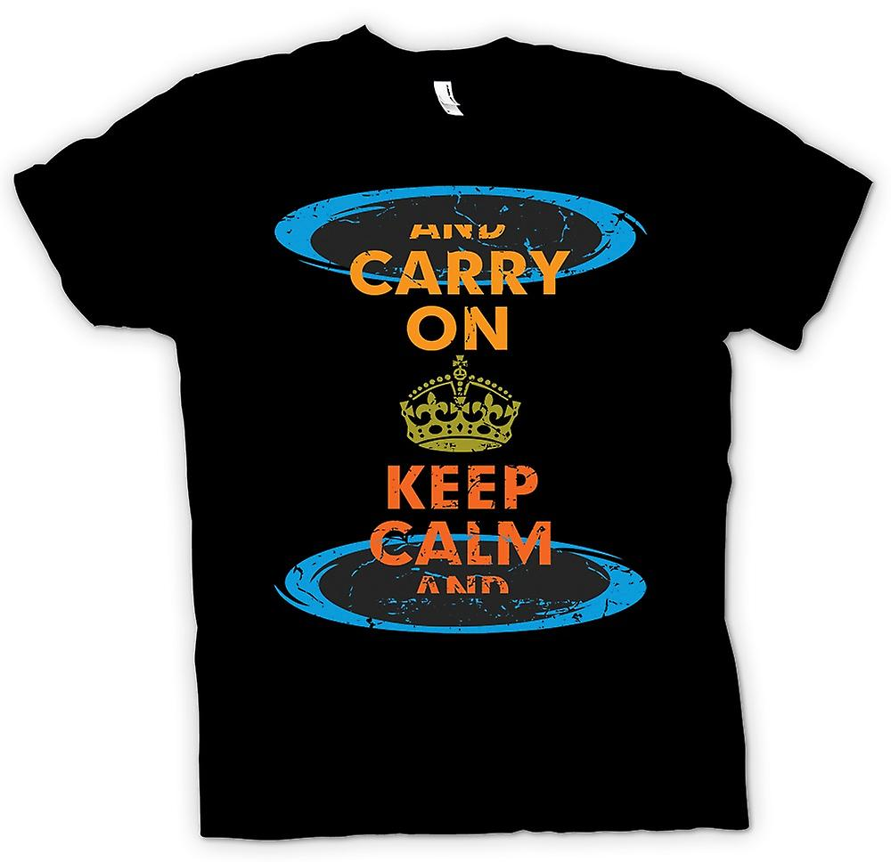 Kids T-shirt - Keep Calm And Carry On - Funny