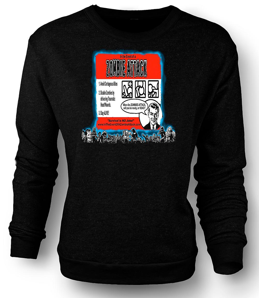 Attaque de zombies Mens Sweatshirt Rules - drôle