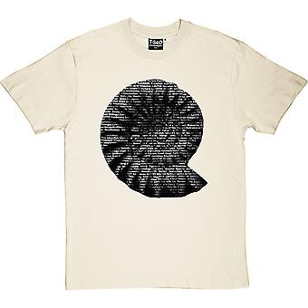 Typographic Fossil Men's T-Shirt