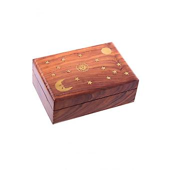Attitude Clothing Stars & Moons Wooden Trinket Box