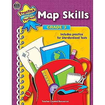 Map Skills, Grade 3 (Practice Makes Perfect (Teacher Created Materials))