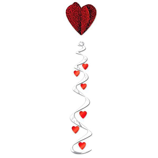 Jumbo Heart Whirl Hanging Decoration