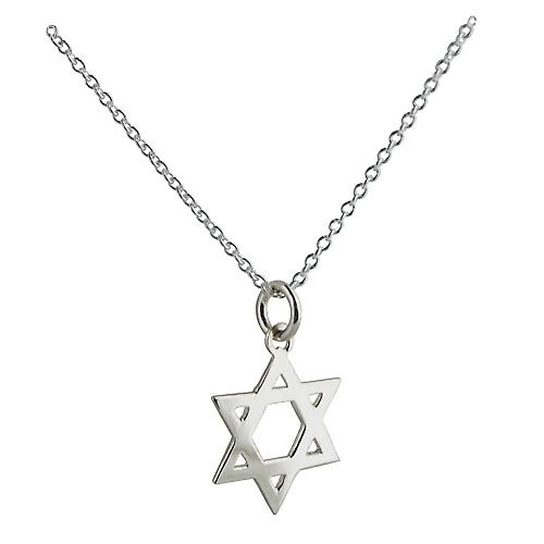 Silver 18mm Star of David with Rolo chain