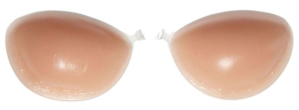 Cup D Strapless Backless Silicone Bra in Nude/skin Colored with Push-up Effect for a Gorgeous Neckline - Adhesive