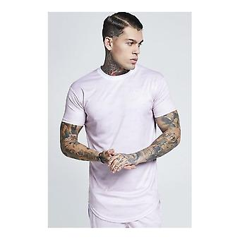 Sik Silk Pink Shadow Silk Curved Hem T-shirt
