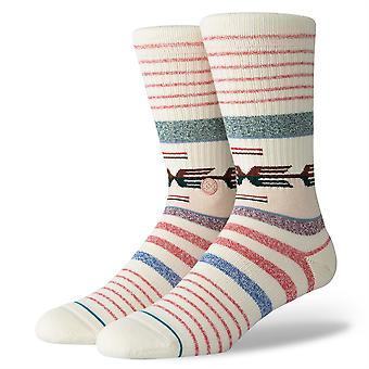 Fundación de postura para hombre calcetines ~ Nambung natural (talla L)