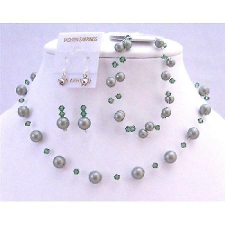 Green Pearls Crystal Swarovski Jewelry Powder Green Turmarine Crystals