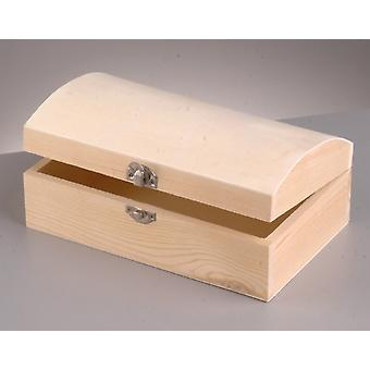 Wood Treasure Chest with Clasp to Decorate 22x14x9cm | Pirate Treasure Chests