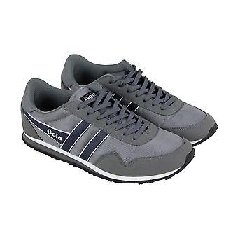 Gola Monaco Ballistic  Mens Gray Retro Lace Up Low Top Sneakers Shoes