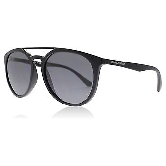Emporio Armani EA4103 501781 Black EA4103 Round Sunglasses Polarised Lens Category 3 Size 56mm