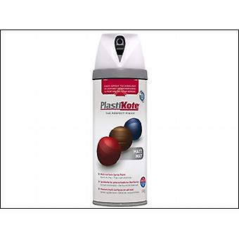 Plasti-Kote Twist & Spray Matt White 400ml