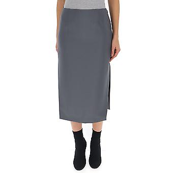 Prada Grey Wool Skirt