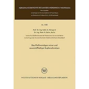 Das Flievermgen reiner und sauerstoffhaltiger Kupferschmelzen by Kniger & Anton