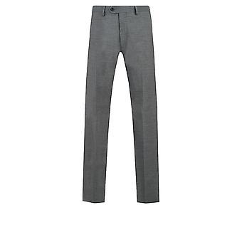 Dobell Mens pelle di squalo grigio tuta pantaloni Regular Fit