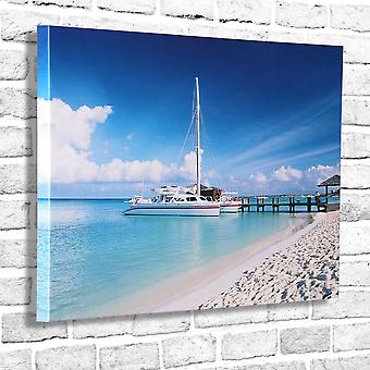 Photo Canvas Seashore, Wall Art 90x60 cm