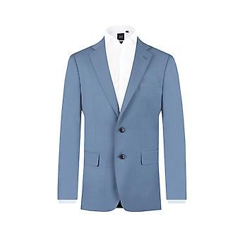 Dobell Mens Light Blue 2 Piece Suit Regular Fit Notch Lapel