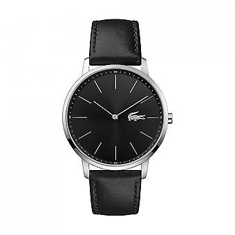 Watch MOON 2011016 Lacoste - watch display analog Bracelet leather black man