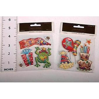 Art-Craft 3-D Craft Stickers - Birthday - 4 Sheets Of Stickers