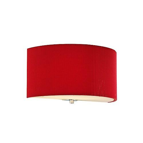 Dar ZAR0125 Zaragoza Red Cotton Micro Pleat Wall Light