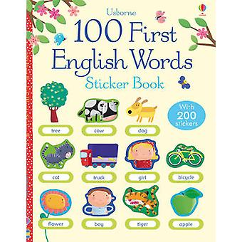 100 First English Words Sticker Book by Felicity Brooks - Francesca D