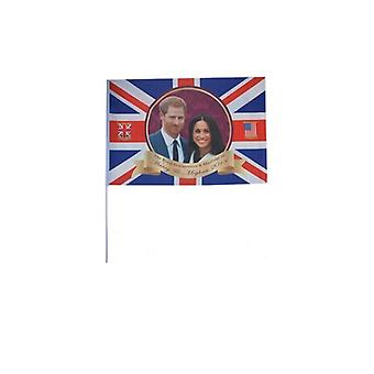 Royal Couple Hand Held Flag - Polyester