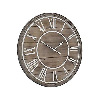 Meubles de balance blanchis en bois Grande horloge circulaire de mur