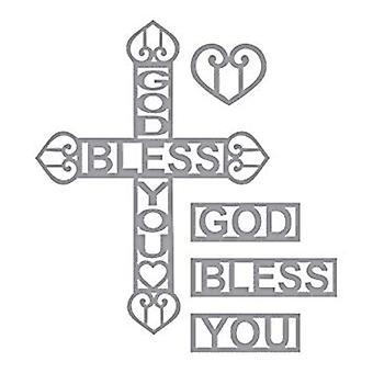 Spellbinders Designer Series God Bless You Cross Die (S4-833)