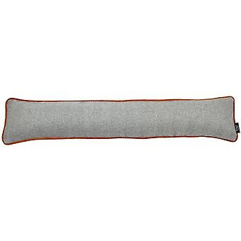 Mcalister textiles herringbone boutique grey + orange draught excluder