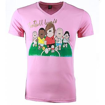 T-shirt-Football Legends Print-Pink