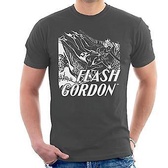Flash Gordon Diving Sketch Men's T-Shirt