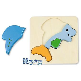 Andreu Toys Baby Puzzle - Dolphin