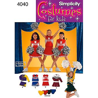 Simplicity Child And Girls Cheerleader C 8 10 12 U04040bb