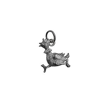 Silver 17x15mm Hen Pendant or Charm