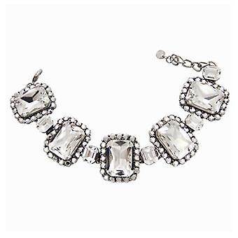 Butler & Wilson Square Stones Crystal Bracelet
