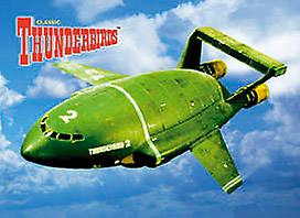 Thunderbird 2 steel fridge magnet    (sd)