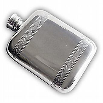 Celtic Banded Pocket Flask