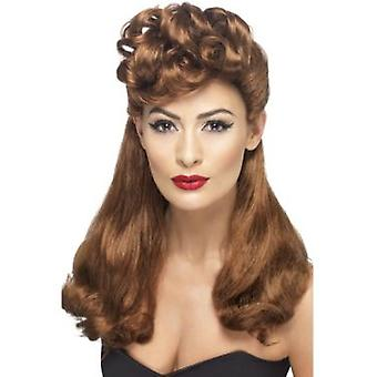 Smiffys 40'S Vintage Wig Auburn Long With Top Curls (Kostüme)