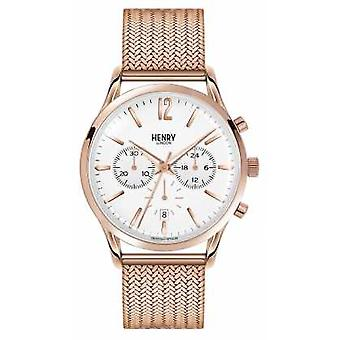 Henry London Unisex Richmond Rose Gold PVD beschichtet HL39-CM-0034 Watch