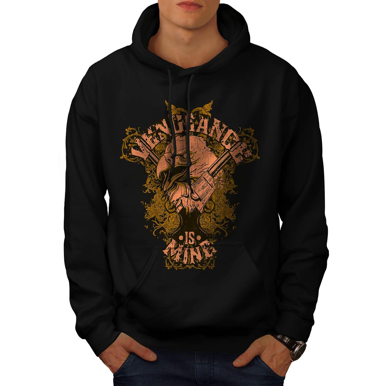 Vengeance Is Mine Vintage Men Black Hoodie | Wellcoda