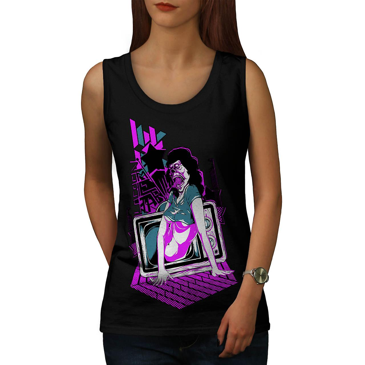 Zombie Star TV Movie Dead Lady Women Black Tank Top | Wellcoda