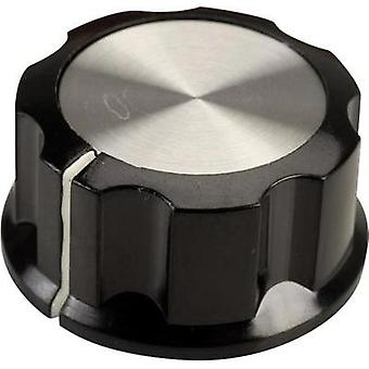 Control knob Black, White (Ø x H) 33 mm x 16 mm SCI RN-99C(6.4mm) 1 pc(s)