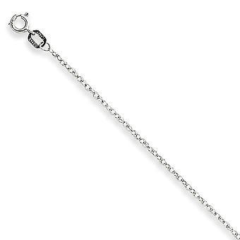 14 K ホワイトゴールド固体 carded さ洗練されたケーブル ロープ チェーン ネックレス 0.95 mm スプリング リング - 長さ: 16 に 24