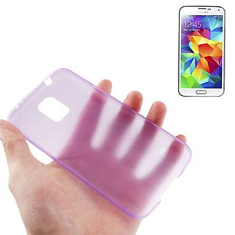 Protective cover case ultra thin 0.3 mm for mobile Samsung Galaxy S5 mini / G800 purple / violet