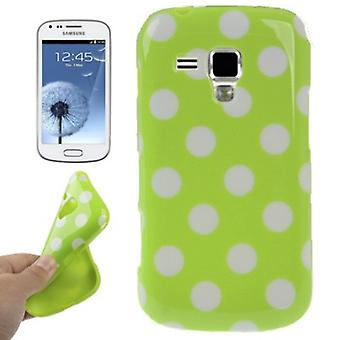 Protective case TPU points case for mobile Samsung Galaxy S duos S7562